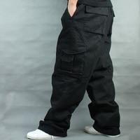 Wide Leg Hip Hop Pants Men Casual Cotton Harem Cargo Pants Loose baggy Trousers Streetwear Plus Size Joggers Men Clothing