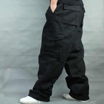 Wide Leg Hip Hop Pants Men Casual Cotton Harem Cargo Pants Loose baggy Trousers Streetwear Plus Size Joggers Men Clothing - DISCOUNT ITEM  47% OFF All Category