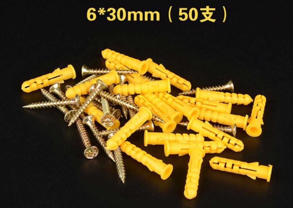 500sets Per Package 6mm X 30mm Expand Nail Wall Plug Anchor Screw With Anchor