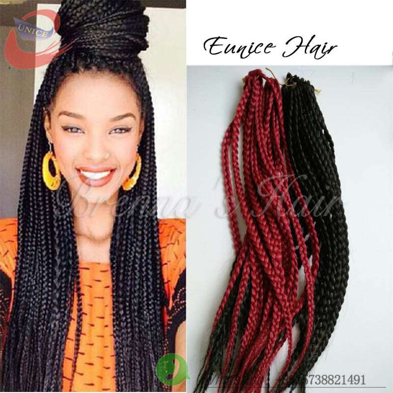 Buy New style 3x box braid crochet Hair Extension synthetic braiding ...