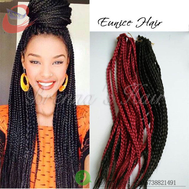 Crochet Box Braids Braid Pattern : 3x box braid crochet Hair Extension synthetic braiding hair crochet ...
