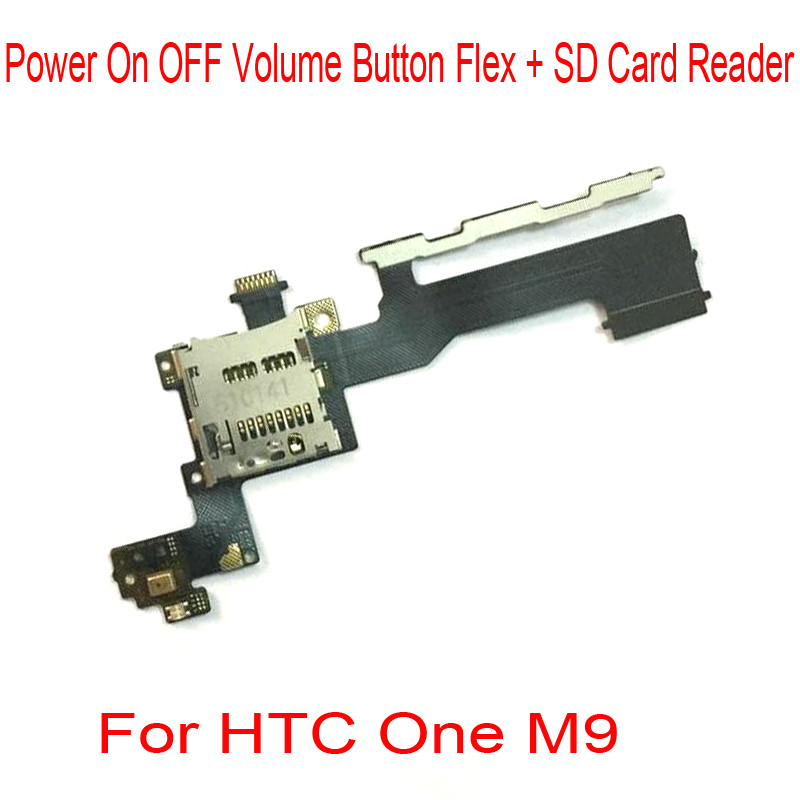 Power On OFF Volume Button Flex Cable With SD Card Reader For HTC One M9 Replacement Part