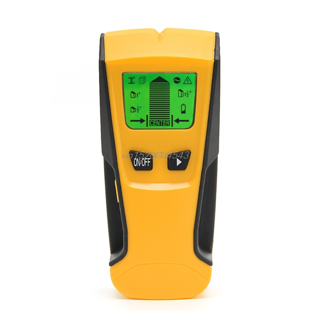 3 in 1 LCD Stud Center Finder AC Live Wire Detector Metal Scanner Industrial Metal Detectors Tools R08 Drop ship silent wire ac 44 ag powercord 1 5m