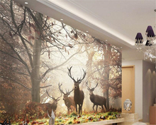 beibehang wallpaper for walls 3 d Retro nostalgic style forest deer mural TV wall 3d wallpaper papel de parede papier peint beibehang any size size wallpaper dinosaur tv wall murals children bedroom papel de parede 3d wallpaper wall 3 d papier peint