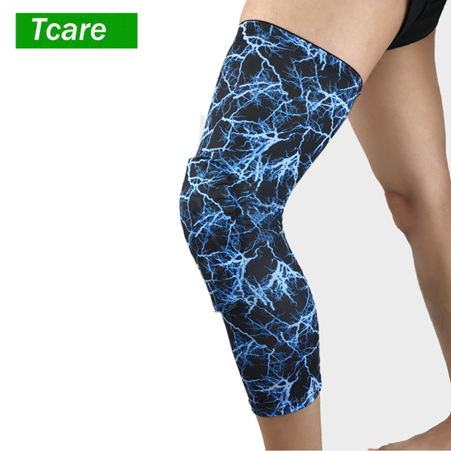 7ae1237be5 2Pcs/lot Knee Support Brace Basketball Padded Leg Sleeve Knee Pad Protector  Anti-Slip