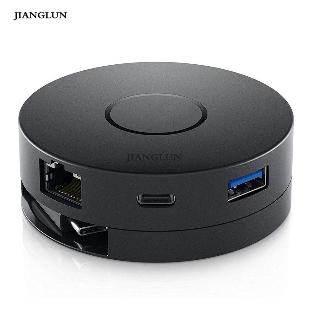 JIANGLUN New For Dell DA300 USB-C to HDMI/VGA/Ethernet/USB 4K Mobile AdapterJIANGLUN New For Dell DA300 USB-C to HDMI/VGA/Ethernet/USB 4K Mobile Adapter