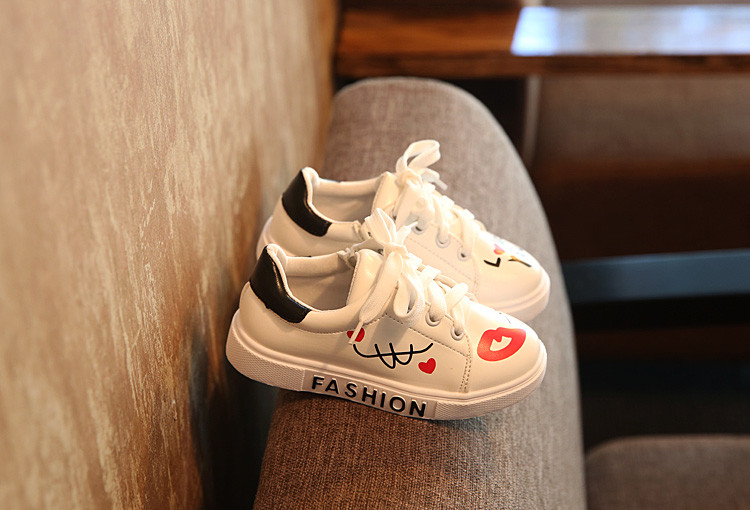 COZULMA Girls Boys Casual Shoes Sneakers 17 Children Sport Shoes Baby Boys Shoes Kids Letters Lace-Up Running Shoes Sneakers 12
