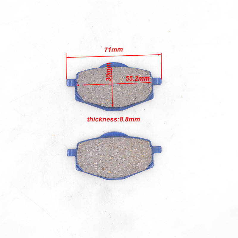 High Quality Motorcycle Brake Disks Pads For Yamaha ZY125 ZY 125 125cc Scooter Moped Dirt Bike Go Carts Brake Spare Parts