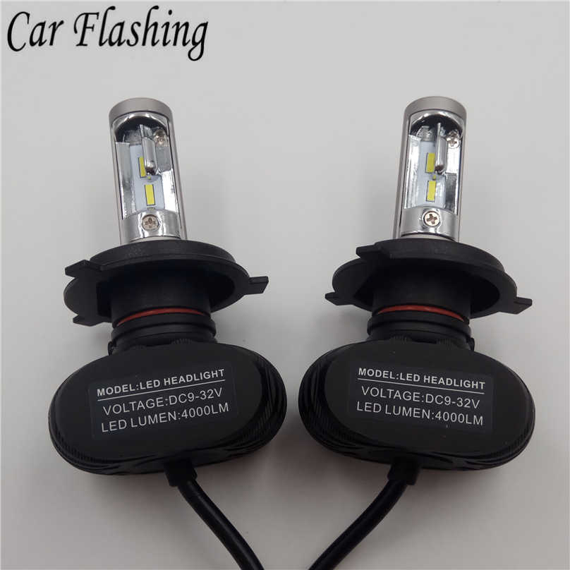 2PCS S1 Led H1 H3 H4 H7 H11 H13 9004 9005 9006 9007 880 Car Headlight Auto Fog Lamp 50W 8000LM Automobile Bulb Chips CSP 6500K