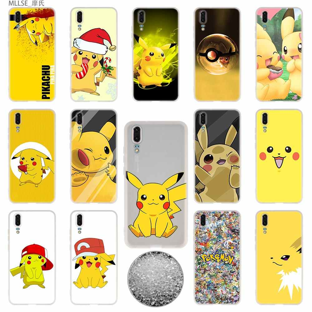 TPU Cover Phone Cases Soft For Huawei P 20 pro P10 Plus P9 P8 lite 2017 P30 pro samrt 2019 Nova 3e Pikachues