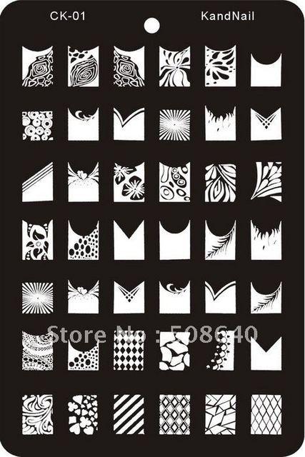 nail art stamp xl template for fingernail desgin set 8pcs draw tool