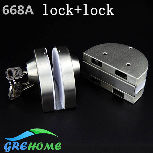 Aliexpress buy 304 stainless steel central glass door lock 304 stainless steel central glass door lock entry gate 10 12mm glass swing push sliding planetlyrics Images