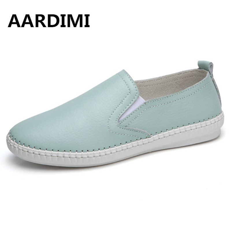 New arrival Women Shoes Genuine leather 3 color summer autumn slip on casual shoes woman classic solid flat wth laides loafers baijiami 2017 new children solid breathable slip on pu casual shoes boys and girls spring summer autumn flat bottom shoes