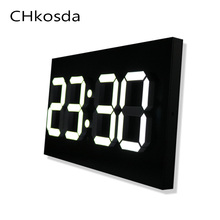 Lamp Square Rectangle Multi-function Desk Clocks Digital  wall Alarm Clock Night Lights Thermometer Wall