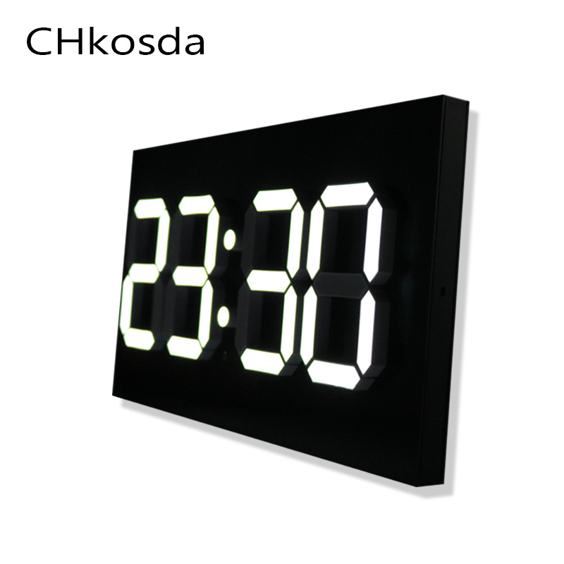 Lamp Square Rectangle Multi function Desk Clocks Digital wall Alarm Clock Night Lights Thermometer Wall Clock