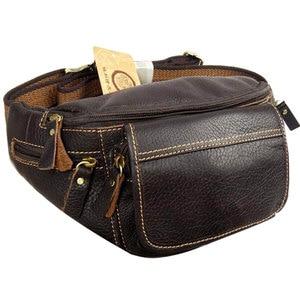 Мужская сумка-мессенджер, Большая вместительная сумка из натуральной воловьей кожи для мобильного телефона