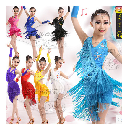 5e2ff0756a26 Children's Latin dress new tassel summer girl dance clothes 61 performance  clothing children do exercises uniforms do54