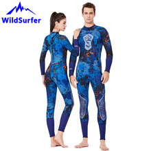 WildSurfer 3mm SCR Neoprene Wetsuits Women One-piece Dive Skins Spearfishing Camouflage Couple Wetsuit Men Swim Diving Suit W128 new scr neoprene 3mm camouflage one piece diving suit surf suit warm waterproof wetsuit for male size s xxl