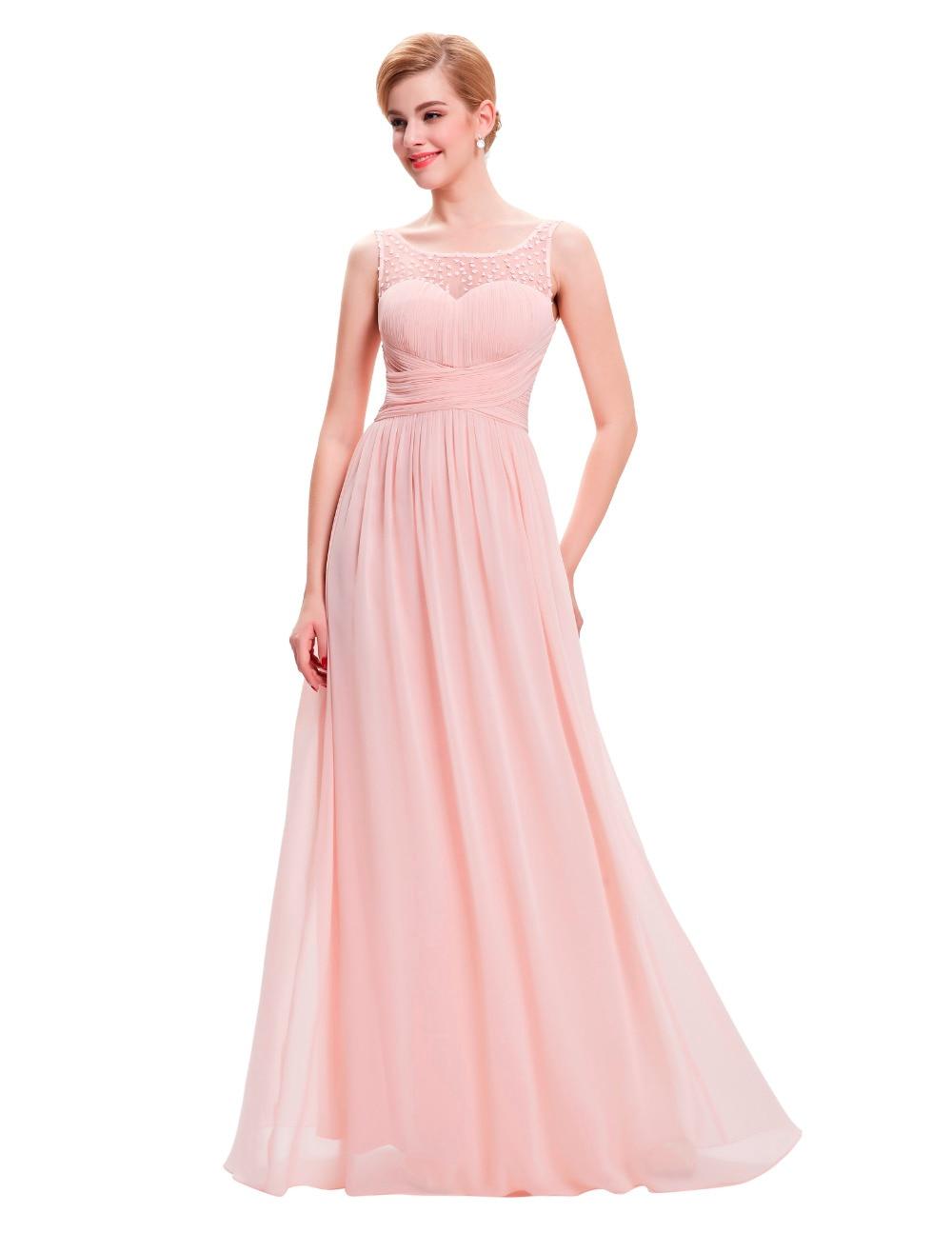 Excepcional Sandía Vestidos De Dama De Honor De Color Rosa ...