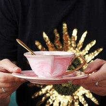 Мраморная кофейная чашка в форме сердца керамические чашки молока соус в скандинавском стиле утренний чай чашки для завтрака фарфоровая чашка Прямая доставка