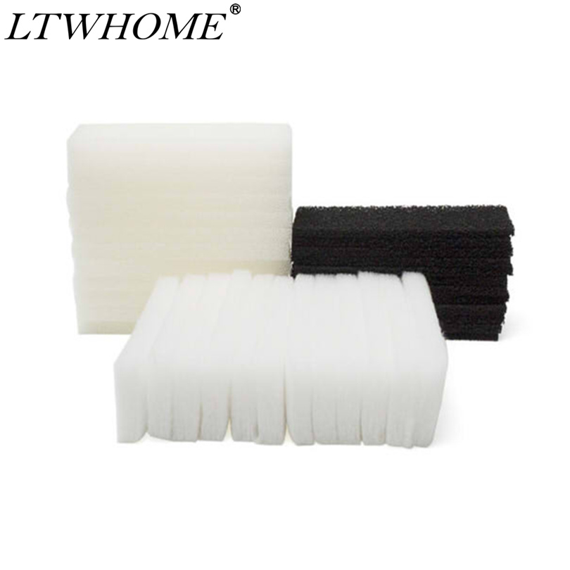 LTWHOME Compatible Foam Carbon Polyester Filter Pads Set