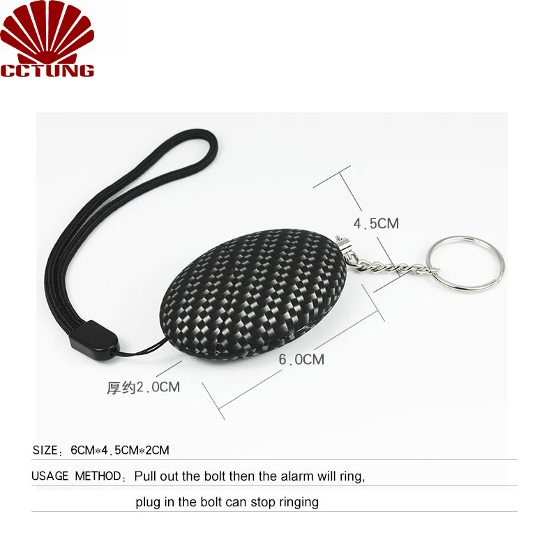 130db Mini SOS Panic Sound Personal Alarm Siren Safe Emergency Personal Alarm Safety Keychain Battery Built-in To Help Scare Off_2