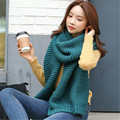 High quality pure wool Ring scarf women new winter couple thick section of warm knit shawls Tassel printed scarves shawls female