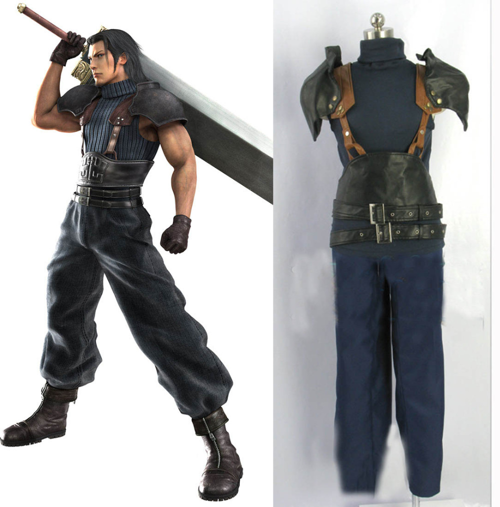 Final Fantasy Vii 7 Crisis Core Zack Fair Cosplay Costume Adult Men