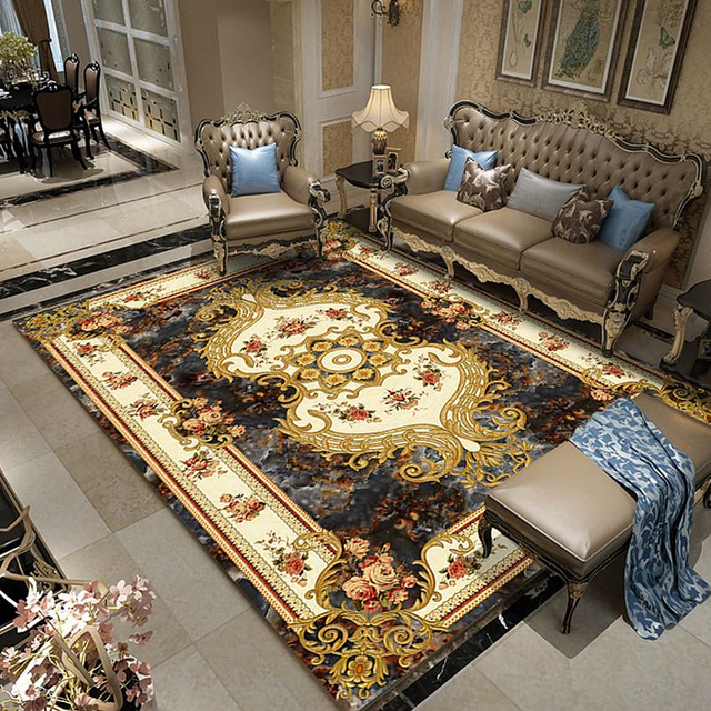 Persian Style Rugs Large Carpets For Living Room Bedroom European