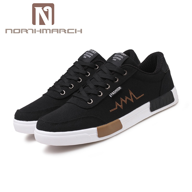 NORTHMARCH New Spring Summer Canvas Shoes Men Sneakers Low Top Lace-Up Shoes Men