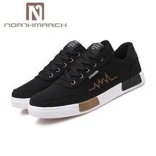 Northmarch Новинка весны Летняя парусиновая обувь мужские кроссовки 9908 низкие Туфли на шнуровке Мужские лёгкие ботинки Для мужчин Tenis masculino adulto