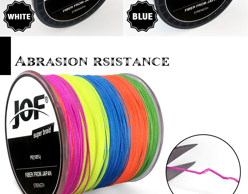 Multicolor 8 Strands 300M 500M 1000M PE Braid Fishing Line Sea Saltwater Fishing Weave 100% SuperPower JOF 15