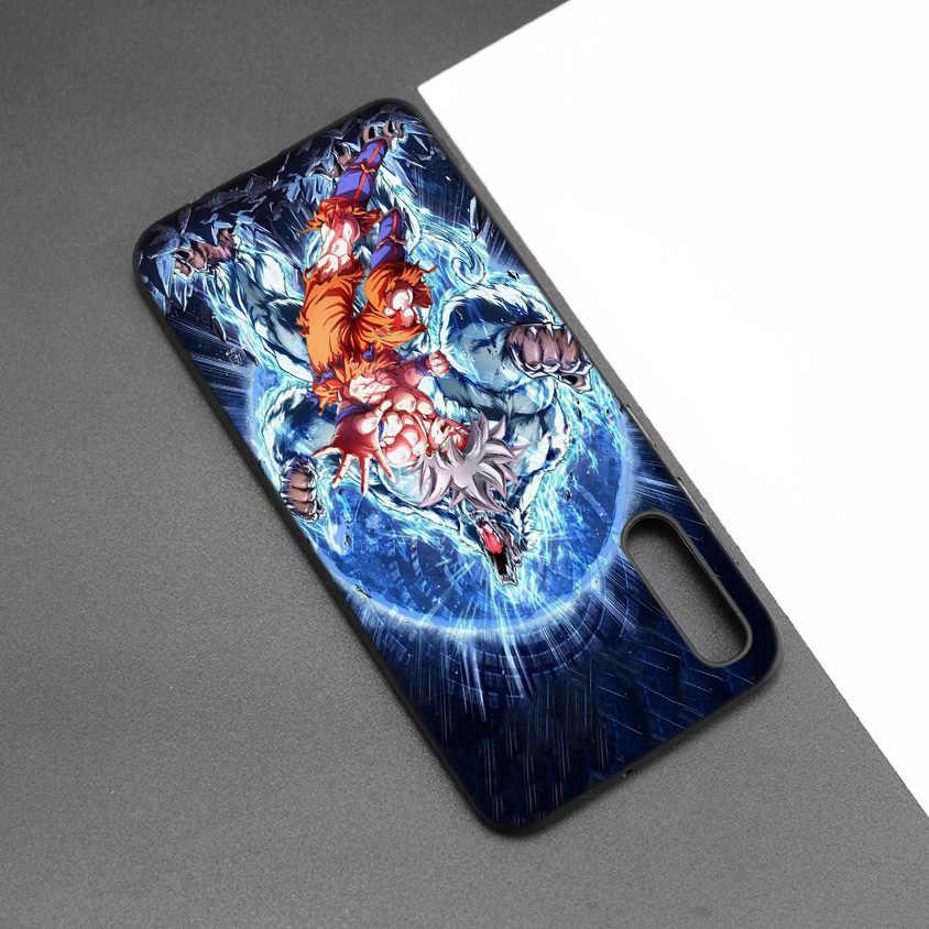 Patrón de dibujos animados negro oscuro silicona TPU funda para Samsung Galaxy A50 A30 A10 M30 teléfono funda suave Dragon Ball Z Super Goku