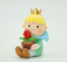 Little Prince with red Rose and Fox fairy garden Action resin miniature Figurines toys For Children Gifts kids room home decor overtopping toys shou wu cu poche friends fairy tale small red hat q edition action