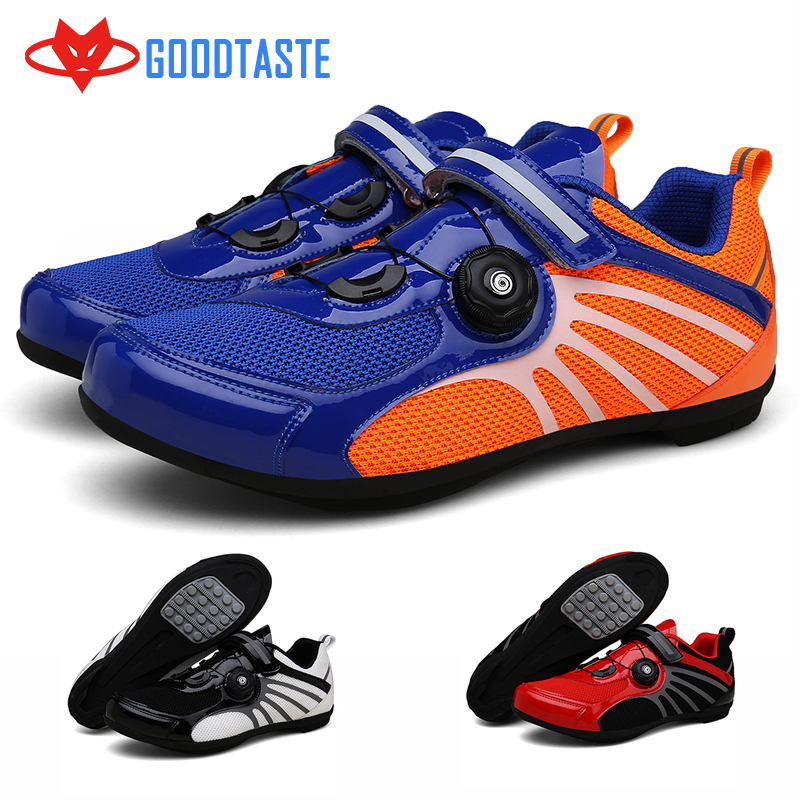 mtb mountain bicycle men women mountainbike Synthetic Rubber Breathable Waterproof Lockless cycling shoes Red Black Blue