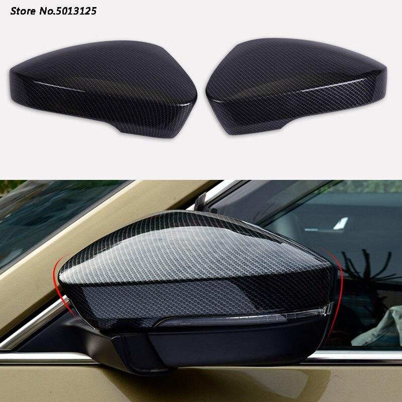 2Pcs Car Chrome Rearview Side Mirror Cover Trim Strip For Skoda Kodiaq 2017-2019