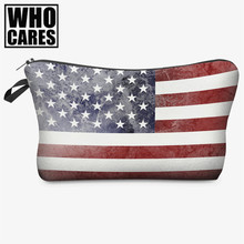 Dye usa 3D Printing makeup bag women travel cosmetic bag 2017 Fashion Large Brand pouch pochette maquillage neceser para mujer