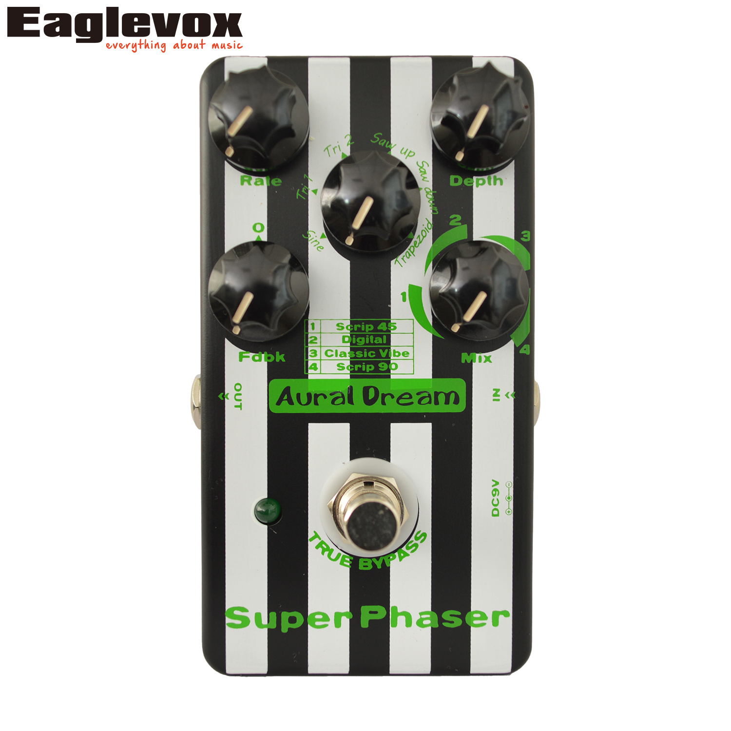 Aural Dream Super Phaser Guitar Effect Pedal Electronic Guitar Effects True Bypass mooer ensemble queen bass chorus effect pedal mini guitar effects true bypass with free connector and footswitch topper