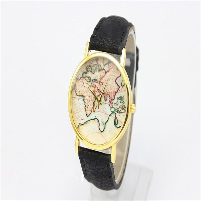 Hot Sale christmas gifts Retro World Map Watch Fashio &