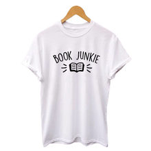 98c18bf4a Illustrated Book Junkie T-Shirt Nerdy Bookworm Funny Saying Tshirt  Introvert Book Lovers Tops Women