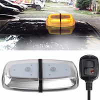 72LEDs Yellow 72W Car Roof Warning Light Dome Flashing Strobe Emergency Vehicle For Police Lights