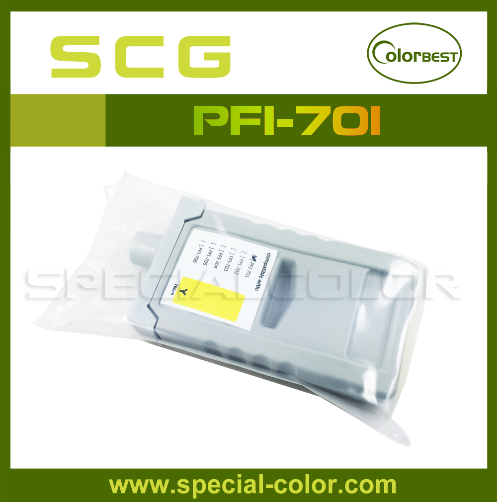 700ml PFI-701 IPF8000 pigment ink cartridge (compatible) Yellow with chip
