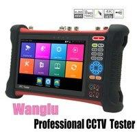 Wanglu Professional CCTV Tester Monitor X7 H.265 4K 8MP TVI CVI AHD SDI CVBS IP Camera tester with TDR, Multimeter,Cable trace