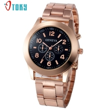 Rose Gold Watch Fashion Women Watches Alloy Sport Quartz Hour Wrist Analog Watch Creative Mar17