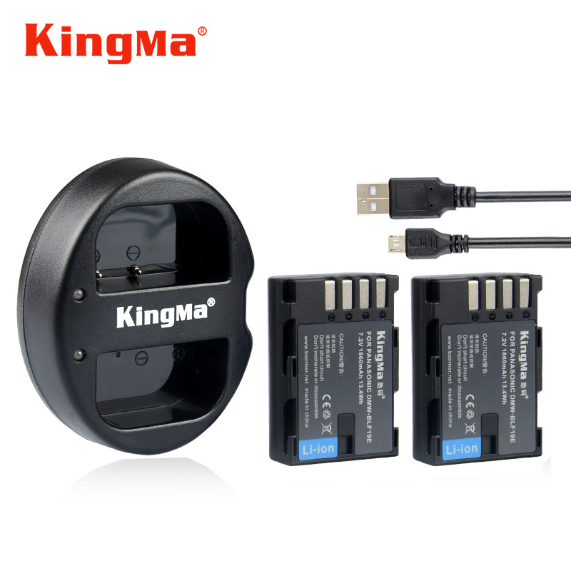 KingMa DMW-BLF19 BLF19 BLF19E Battery +Charger for Panasonic Lumix DMC-GH3 DMC GH3 GH4 DMC-GH4 Batteries bateria celular dste for panasonic dmc gh2 dmc gh2gk dmc v lux4 dmc g7 smart digital 1 5a dual charger compatible 2xli ion dmw blc12 batteries