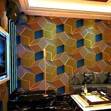 Геометрическая настенная бумага s 3D Персонализированная решетчатая настенная бумага рулон для бара KTV Декор стены комнаты фон настенная бумага рулон для стен
