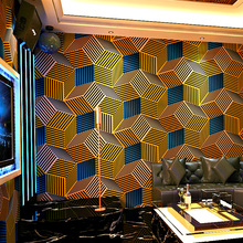 Geometric Wallpapers 3D Personalized Lattice Wall Paper Roll  for Bar KTV Room Decor Background Wallpaper Walls