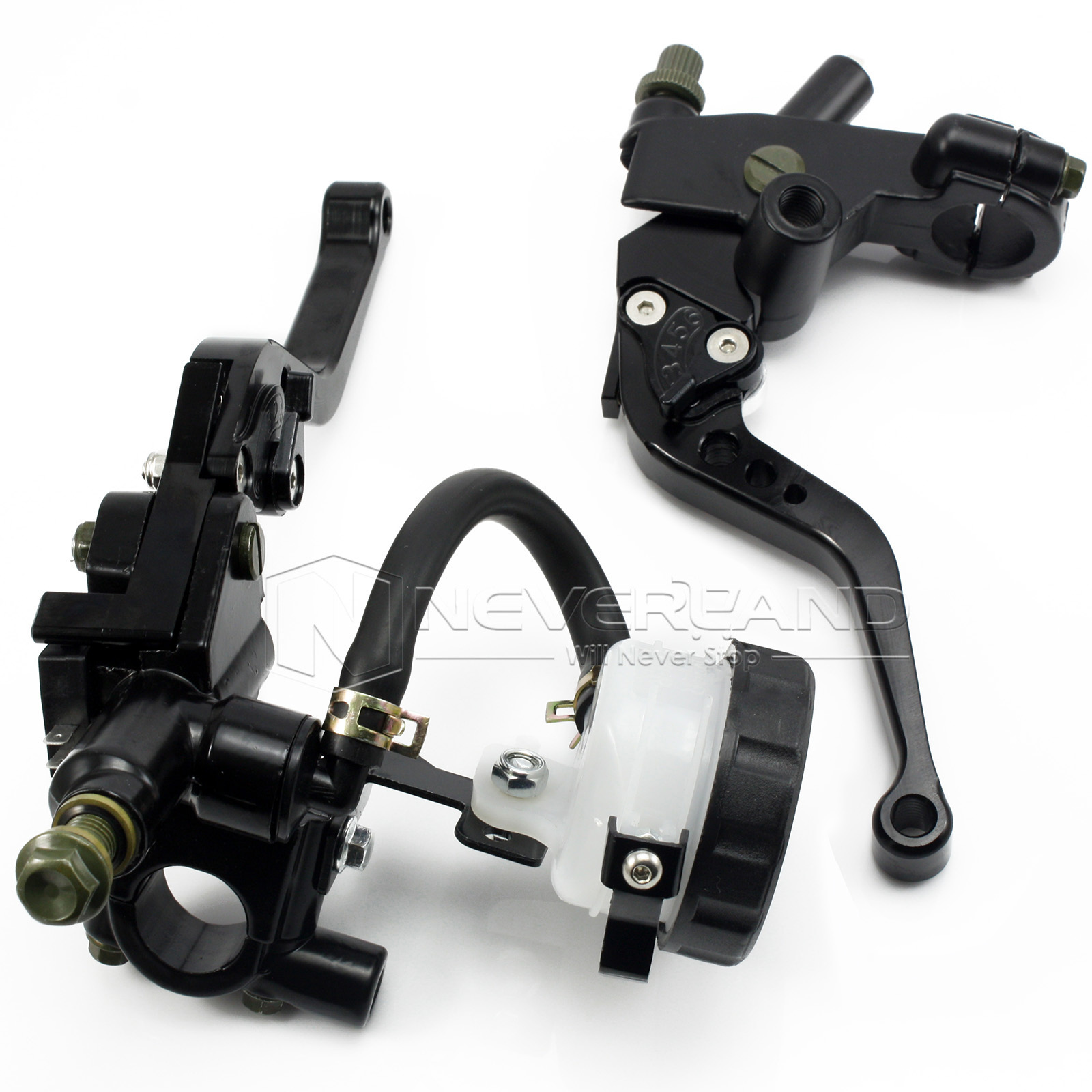 Universal CNC 7/8 22mm Black Motorcycle Brake Clutch Levers Master Cylinder Reservoir Set For Honda Suzuki Kawasaki Yamaha D10 1pcs high quality 1156 ba15s p21w 15 smd 2835 canbus led car auto indicator turn side light parking bulb lamp dc 12v