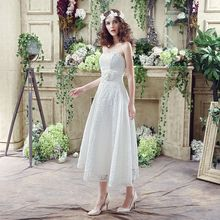 Noble Weiss Under Lace Length Beach Wedding Dresses
