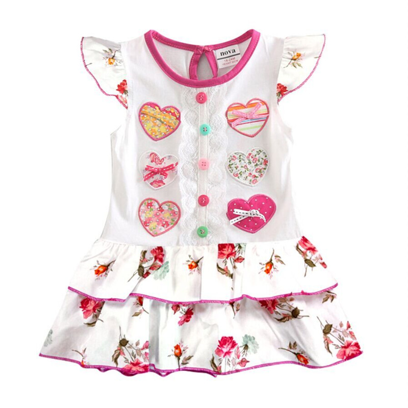 Nova baby clothing sleeveless dresses embroidered summer girls dress children wear toddler frock  -  NOVA & NOVATX Factory Store store
